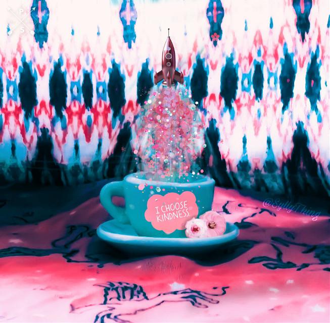 #choosekindness #picsart #madewithpicsart #heypicsart #pink&teal #flower #brusheffect #brushtool #drawtool #getsylly
