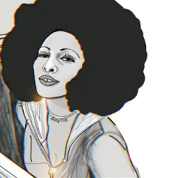 actress foxybrown coffy jackiebrown pamgrier icon mydrawing illustration outline outlineart trend woman afroamerican fiercewoman drawing blackandwhite sketch portrait celebrity 70s zanytaz freetoedit