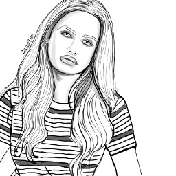 cherylblossom redhead character archiecomics teenagegirl teen madelainepetsch lineart mydrawing illustration outline outlineart trend woman trendygirl drawing blackandwhite sketch portrait celebrity zanytaz freetoedit