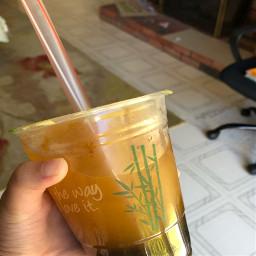 bubbletea mango boba yummy bambu