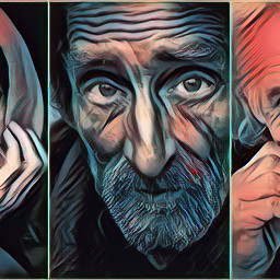 collage portraits men faces madewithpicsart fx photomanipulation