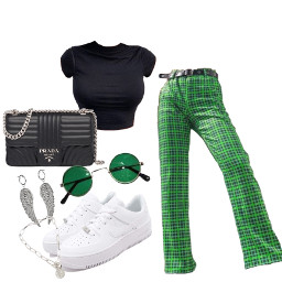 green outfit style sneakerheads airforce1 picsart instagram tiktok snapchat text like4like comment4comment shareforshare followforfollow freetoedit
