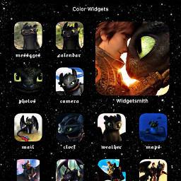ios14wallpaper ios14 ios14update homescreen howtotrainyourdragon toothless hiccup dragons