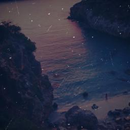 beach ocean cliff