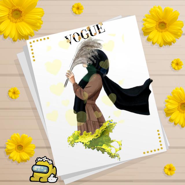 #hijab #yellow#muslims #girls #fyp#picart