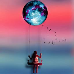 mystic moon surrealart heypicsart nature freetoedit