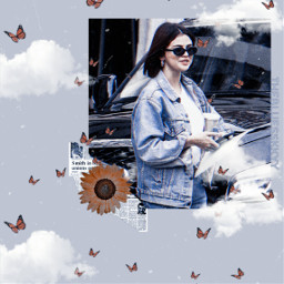 freetoedit fotoedit aesthetic vintage aestheticvintage replay selenagomez selenators flower blue aestheticblue quotes trend heypicsart vintagestickers makeawesome clouds butterfly
