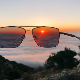 freetoedit sunset friends glasses