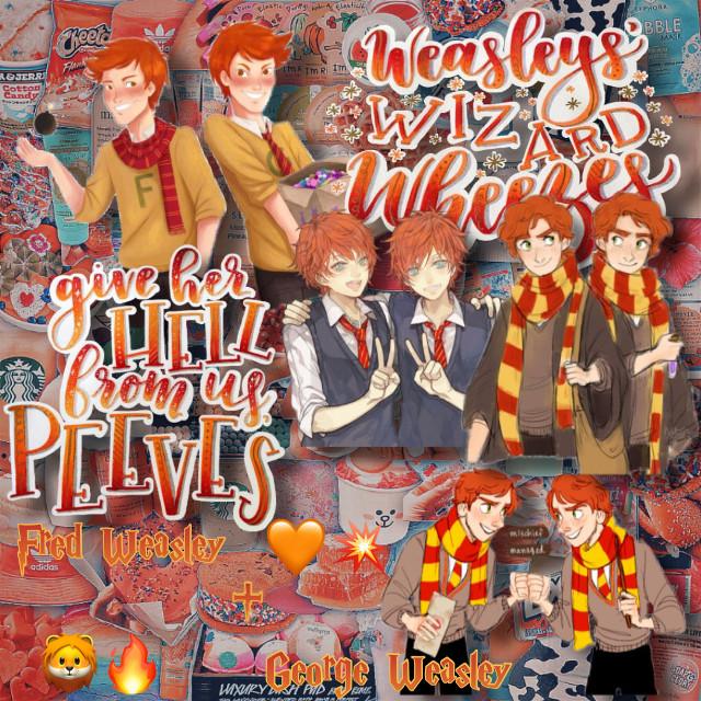 🦁🔥𝕨𝕖𝕒𝕤𝕝𝕖𝕪 𝕥𝕨𝕚𝕟𝕤🧡💥 #weasley #weasleys #weasleytwins #fredweasley #georgeweasley #fredandgeorgeweasley #weasleywizardwheezes #weasleywizardswheezees #harrypotter #hp #orange #red #gryffindor #complexedit