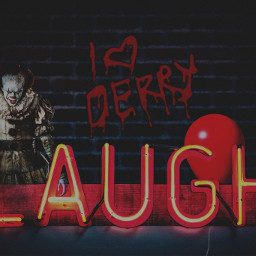 pennywise pennywisethedancingclown it2017 itchapter2 pennywisetheclown pennywise2017 billskarsgård pennywiseedit ecneonsign neonsign freetoedit