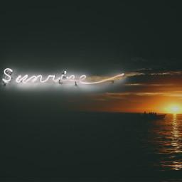 sunrise ecneonsign neonsign freetoedit