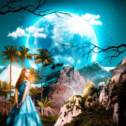 freetoedit surrealism imagination aliceinwonderland girl