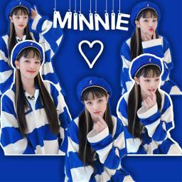 minnie kpop blue korean cute girl
