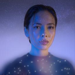 freetoedit galaxy galaxia stars estrellas brillos brillo shine nebulosa negro black blue azul purple morado mygirl