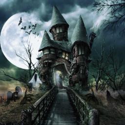 halloween hauntedhouse scary ghosts monsters darknight spooky twilight freetoedit