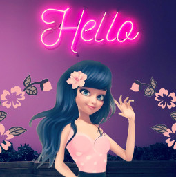freetoedit marinettedupaincheng hello marinetteflower pink madebyme vote4meplz mlbforever ecneonsign neonsign