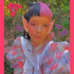 indie y2k indieedit indiegirl pink 2000s 90s butterflies sanrio replay cute saturation aesthetic girl photography butterfly stickers kidcore kidcoreaesthetic freetoedit