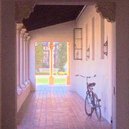 freetoedit remixit bicycle softaesthetic cute pretty background wallpaper window frame college campus cool quiet peaceful famoose famous ridaphotography daisysquad nature outdoors tulipsquad itookthis filteronly