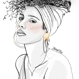 aliciakeys singer_songwriter outline portrait outlineart beauty sings illustration sketch trend trendygirl drawnbyme drawing people blackandwhite art pose colorme freetoedit