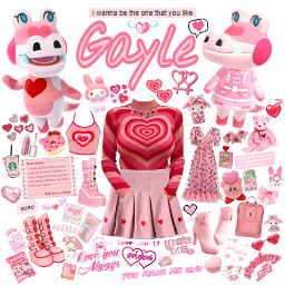 acnh animalcrossing animalcrossingnewleaf animalcrossingnewhorizons acnl acnhgayle gayle love aligator lovecore hearts red pink redandpink redaesthetic pinkaesthetic candy outfit outfitaesthetic clothes clothesaesthetic strawberry kawaii kawaiiaesthetic freetoedit