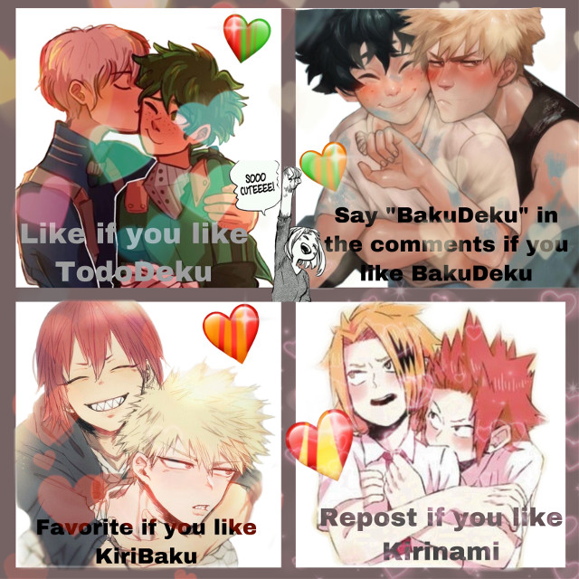 Omg I love this let's try!? (and I love all the ship's but like u guys know most kiribaku) Love ya all!  #kiribaku #bakukiri #tododeku #dekutodo #bakudeku #dekubaku #kirikami #kamikiri #denki #kirishima #bakugo #bakugou #midoriya #todoroki #shoto #kaminari #eijirou #izuku #remixit #eijiroukirishima #katsuki #katsukibakugou #izukumidoriya #shototodoroki #denkikaminari