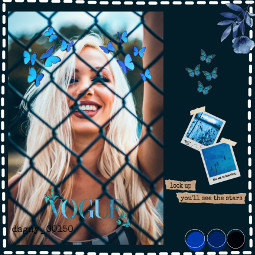 blue butterfly freetoedit