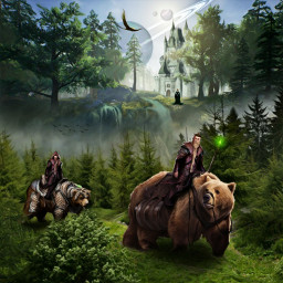 mastershoutout bears fantasy fantasyart imagination freetoedit