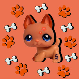 littlestpetshop lps dog germanshepherd freetoedit