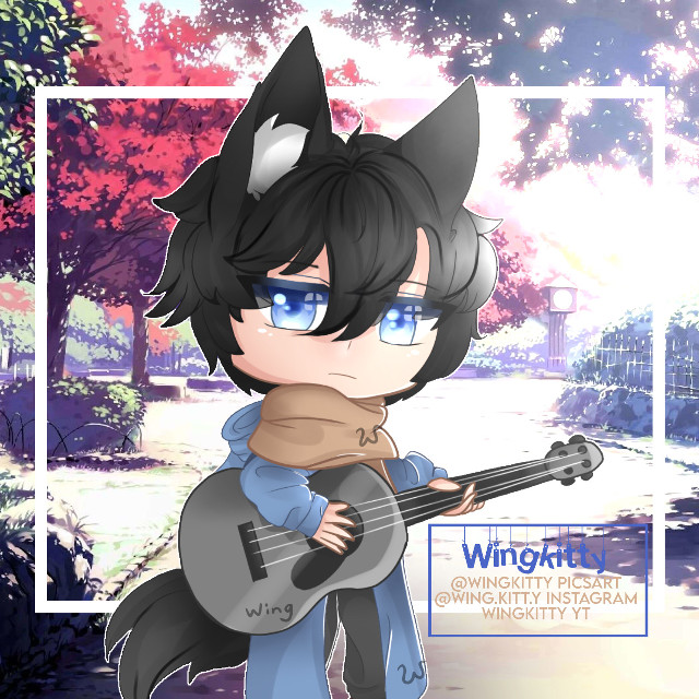 Damn, I haven't posted for 2-4 weeks I'm sorry :((  I'm currently just trying to survive school and the chaos of the privalege of being blended/hybrid 😎  This is my Japanese OC :P I forgot his name and he's basically a cold, soft bean >:T  Damn, I've messed up everything in this edit smh Please forgive me :(( (I know I messed up the knobs and strings of the guitar or whatever they're called. I was getting really tired and didn't want to restary the whole thing. There's six of them- y e s.)  Background isn't mine, it's from Google ^^  I was going to make some autumn-themed drawing but I was just hating myself that day and the next. I frustrate myself so much sometimes :,)  I hope you like this edit ^^ Although I've messed up the hair, ears, tail, clothes, guitar, face, and hands :DD  [💕𝐒𝐩𝐞𝐜𝐢𝐚𝐥 𝐓𝐚𝐠💕] @suneater666  (Tabs's new account :0 Please help him get back to 2K+ followers 🙏)  [🌙𝐎𝐭𝐡𝐞𝐫 𝐒𝐨𝐜𝐢𝐚𝐥 𝐌𝐞𝐝𝐢𝐚] -𝐼𝑛𝑠𝑡𝑎𝑔𝑟𝑎𝑚: @///wing.kitt.y https://www.instagram.com/wing.kitt.y/ -𝑌𝑜𝑢𝑇𝑢𝑏𝑒: Wingkitty YT https://m.youtube.com/channel/UCTiPPLyHz0qc6E02e6hIXBw -𝑊𝑎𝑡𝑡𝑝𝑎𝑑: Wingkitty https://www.wattpad.com/user/Wingkitty -𝑃𝑖𝑛𝑡𝑒𝑟𝑒𝑠𝑡: Wingkitty https://www.pinterest.com/pottermorekittyuwu/  Hello. My name/OC's name is Wing(kitty). I'm a young artist that's still developing and growing in her art styles. If you need to talk to me, please contact me on Discord: Wingkitty#6173 . Feel free to leave friendly advice on any of my posts, and don't be afraid to ask question. Thank you and God bless you! 🙏  [🎨𝐖𝐢𝐧𝐠'𝐬 𝐇𝐨𝐥𝐲 𝐂𝐥𝐮𝐛🎨] (𝐓𝐚𝐠 𝐋𝐢𝐬𝐭) ⚠️—> @-_dabi_- <—⚠️ (My second account) 🐾@crescent-m00n 🕊@yellowcitye ✨@kitkat379 💙@gacha_fay001 🐾@mochigacha354 🕊 @-xdreamyx- ✨@rainbow-fluffy 💙@themissfleur 🐾@that_one_emo_weeb 🕊@xx_missimperx_xx ✨@nabe127 💙@rainsoar 🐾@dorateacokaedits 🕊@drawing_loveruwu ✨@goldelicious 💙@_miss_sushi_ 🐾@unfriend_me_now 🕊@_miss_fxcking_bxtch_ ✨@marshmxllow_fluff 💙@silver_moonz 🐾@-meowchi- 🕊@sapphire_artz ✨@leftu_21 💙@jana_catqueenxx 🐾@-_bby_mochi_- 🕊@1_broken_devil_1  Comment 🌸 t