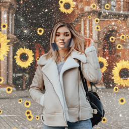 freetoedit canvas canvaseffects flowers aestheticedit sunflower sundlowers sparkle sparkleaesthetic