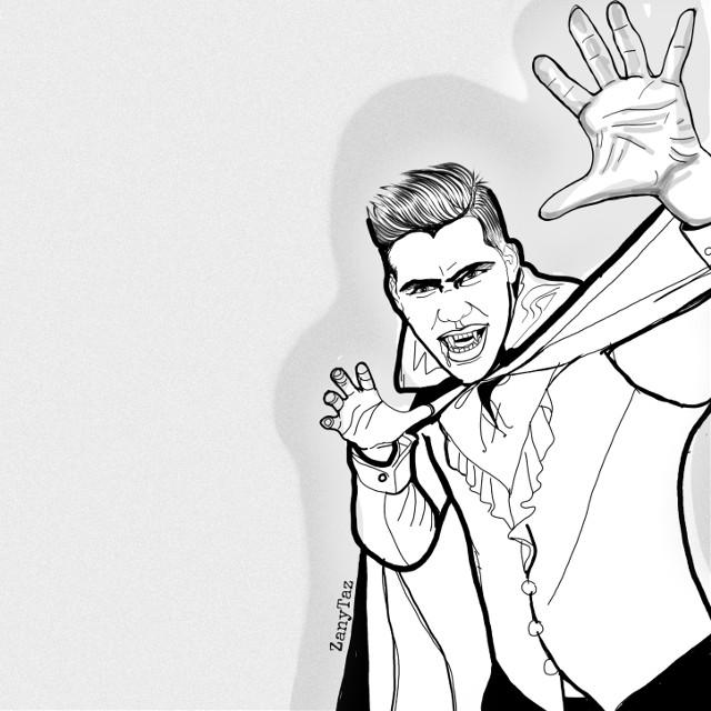 Modern looking #dracula #halloween #bloodsucker #cape #happyhalloween #illustration #character #portrait #sketch #blackandwhite #linedrawing #people #colorme #outline #outlineart #myart #freetoedit #freeforbusiness