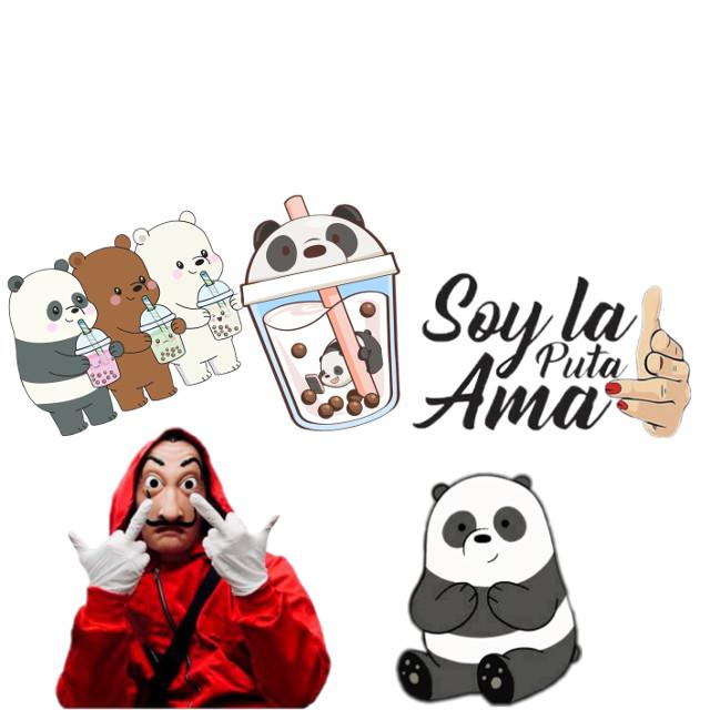 #Everything in my head is pandas and la casa de papel