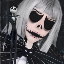 halloween halloweenedit makeup editeyes jackskellington thenightmarebeforechristmas freetoedit