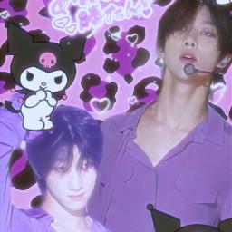 minghao minghaoedit seventeen the8 purple sanrio kuromi