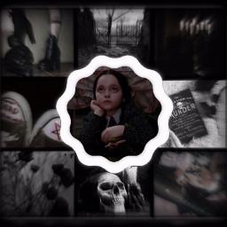 wednesdayaddams wednesdayaddamsedit theaddamsfamily goth gothic grunge black blackaesthetic edit