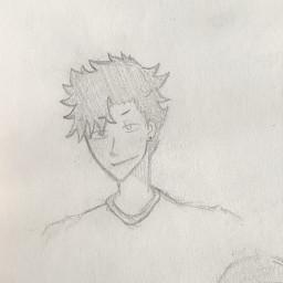 anime drawing doodle art traditionalart animeart sketch kurootetsurou haikyuu kurootetsuro tetsuroukuroo haikyu nekoma