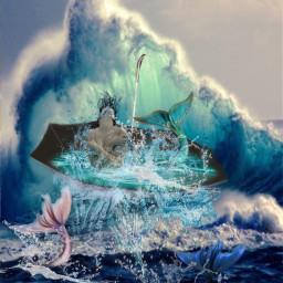 sea sirena seawater splash freetoedit ircundertheumbrella undertheumbrella