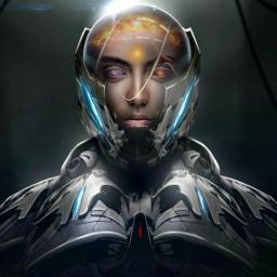 robot robotgirl sciencefiction futuristic wallpaper freetoedit