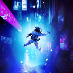 freetoedit astronaut light effect visualart city night japan edit madewithpicsart heypicsart creativity surrealart surreal contraste conceptart photomanipulation perspective picture adreamygirl༄ road wallpaper background adreamygirl
