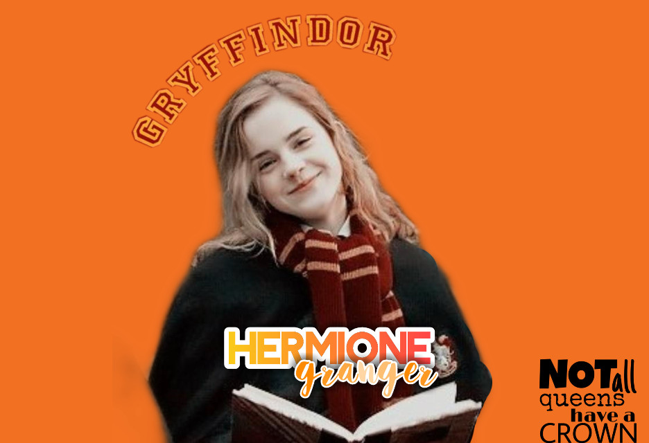 hermonie is the best, period. not all queens have crowns 🤪🧡 #hermionegranger