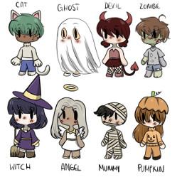 halloween halloweenoutfit gacha gachalife outfit cute kawaii aesthetic spoopy spooky anime adorable chibi freetoedit