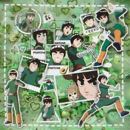 anime manga otaku japan weeb naruto shippuden narutoshippuden sasuke sakura kakashi rock lee rocklee gai neiji tenten green aesthetic greenaesthetic freetoedit