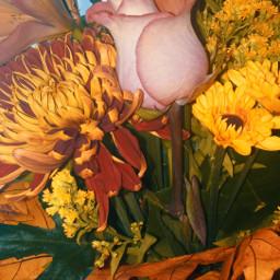 flowers roses daisies mums autumnbouqet