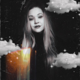 dark spookyseason witchy longhair blonde clouds sparkle makeup saturday bored sunflare mtl