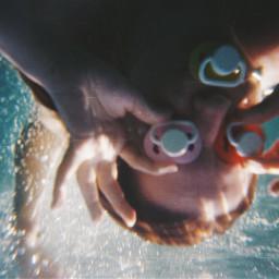 underwater portrait summer