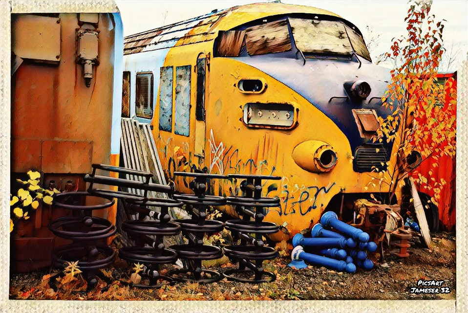 #photography #colorful #fall #fall-colours  #engine #train #northlander #ONR #Railroad