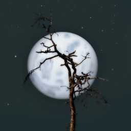 freetoedit october background bluemoon fullmoon