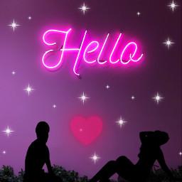 neoneffect silhouette pinkheart freetoedit ecneonsign neonsign