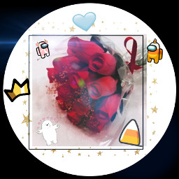 flower candy candycorn frame crown amoungus blueheart stars freetoedit
