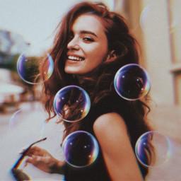bubbles girl portrait freetoedit